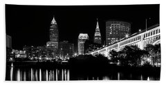 Cleveland Skyline Beach Towel