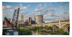 Cleveland Skyline Vista Beach Towel