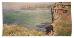 Cliff At Varengeville Beach Towel