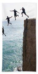 Cliff Diving Beach Towel
