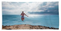 Cliff Jumping Beach Towel