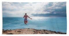 Cliff Jumping Beach Towel
