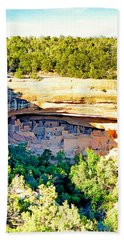 Cliff Palace Study 1 Beach Towel