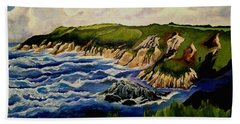 Cliffs And Sea Beach Towel