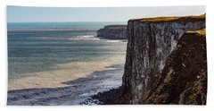 Beach Sheet featuring the photograph Cliffs Of Bempton by Anthony Baatz