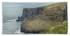 Cliffs Of Moher 1 Beach Towel by Marie Leslie