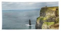 Cliffs Of Moher 3 Beach Towel by Marie Leslie