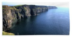 Cliffs Of Moher Beach Sheet by Catherine Alfidi