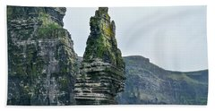 Cliffs Of Moher Sea Stack Beach Towel