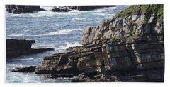 Cliffs Overlooking Donegal Bay Beach Sheet by Greg Graham