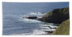Cliffs Overlooking Donegal Bay II Beach Sheet by Greg Graham
