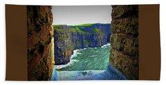 Cliffs Personalized Beach Towel