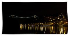 Clifton Suspension Bridge At Night Beach Towel