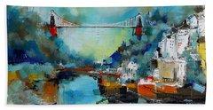 Clifton Suspension Bridge Bristol England Beach Towel