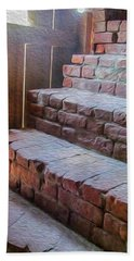 Climb The Brick Steps Of Time Beach Towel