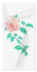 Beach Towel featuring the painting Climbing Rose by Elizabeth Lock