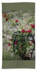 Climbing Rose Beach Towel