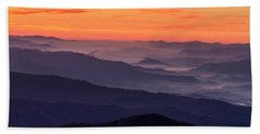 Clingmans Dome Fall Sunrise Beach Towel