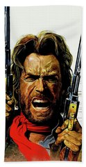 Clint Eastwood As Josey Wales Beach Towel