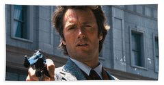 Clint Eastwood With 44 Magnum Dirty Harry 1971 Beach Sheet