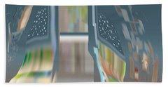 Beach Towel featuring the digital art Cloak City by Kevin McLaughlin