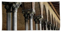 Beach Sheet featuring the photograph Cloister Detail, Couvent Des Jacobins by Elena Elisseeva
