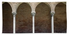 Beach Sheet featuring the photograph Cloister With Arched Colonnade by Elena Elisseeva