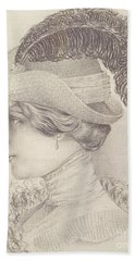 Close-up Of A Young Woman, Austria, 1910 Beach Towel