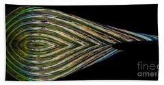 Beach Towel featuring the digital art Closed Eye by Wendy Wilton