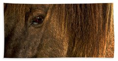 Closeup Of An Icelandic Horse #2 Beach Sheet by Stuart Litoff