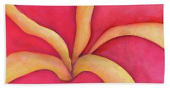 Closeup Of Red Rose Beach Towel