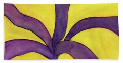 Closeup Of Yellow Rose Beach Towel