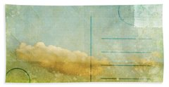 Cloud And Sky On Postcard Beach Towel