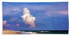 Beach Towel featuring the photograph Cloud Approaching by Roberta Byram