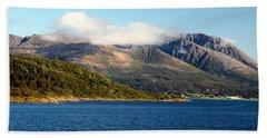 Cloud-capped Mountains Beach Sheet