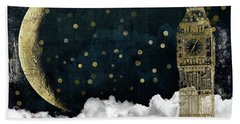 Cloud Cities London Beach Towel