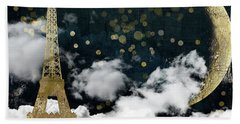 Cloud Cities Paris Beach Towel by Mindy Sommers