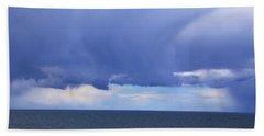 Beach Towel featuring the photograph Cloud Curtain by Nareeta Martin