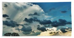 Cloud Filled Sky  Beach Towel by Christy Ricafrente