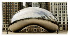 Cloud Gate - 3 Beach Towel by Ely Arsha