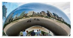 Cloud Gate Aka Chicago Bean Beach Towel