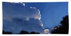 Cloud Highlights Beach Towel by Warren Thompson