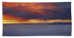 Cloud Layer Sunrise At Dead Horse Point State Park Beach Towel