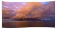 Cloud Motion At Dawn  Beach Towel
