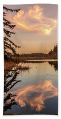 Cloud On Cranberry Lake Beach Towel