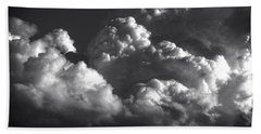 Cloud Power Over The Lake Beach Towel by John Norman Stewart