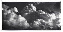 Cloud Power Over The Lake Beach Sheet