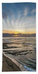 Cloud Rays Vertical Beach Towel