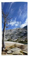 Cloud Stretch Lower Cathedral Lake Beach Towel by Amelia Racca