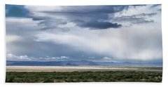 Cloud Traveling Over Open Ground Beach Towel